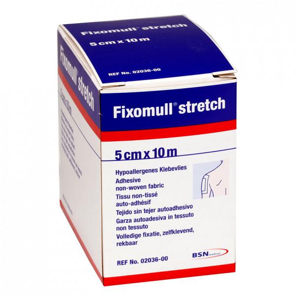 Fixomull stretch 5 cm x 10 m - Hypoallergenes Fixiervlies
