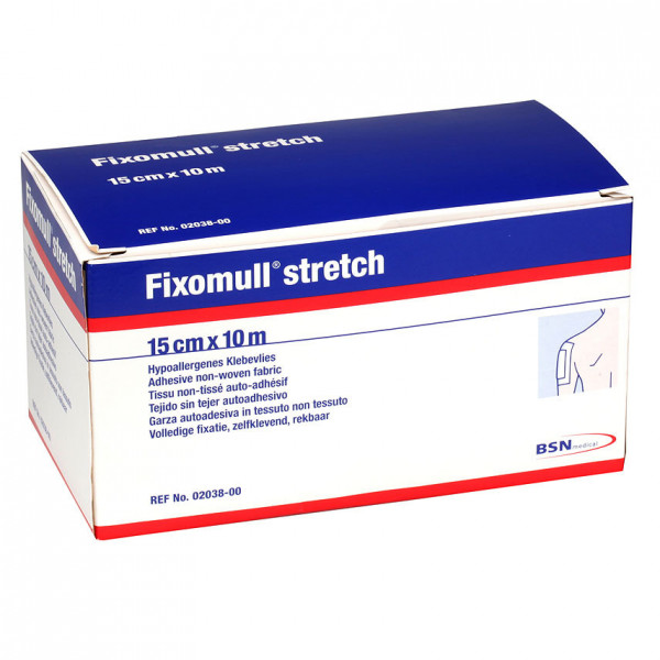 Fixomull stretch 10 cm x 10 m - Hypoallergenes Fixiervlies